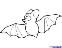 Фото летучую мышку ребенку карандашом