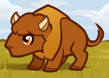 Рисуем маленького буйвола ребенку