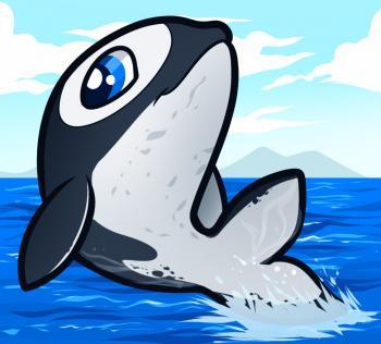 Рисуем маленького дельфинчика ребенку