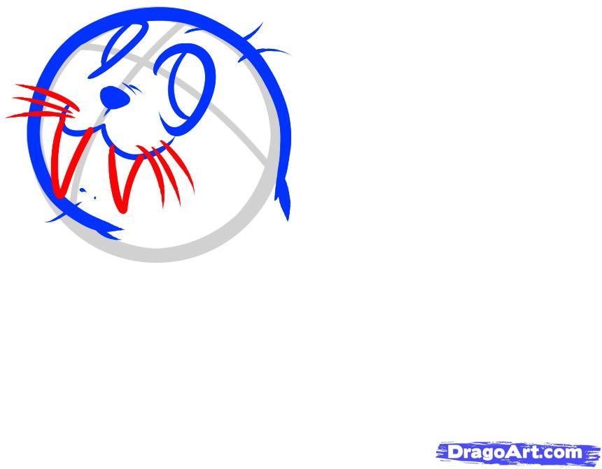 Рисуем моржа - шаг 4
