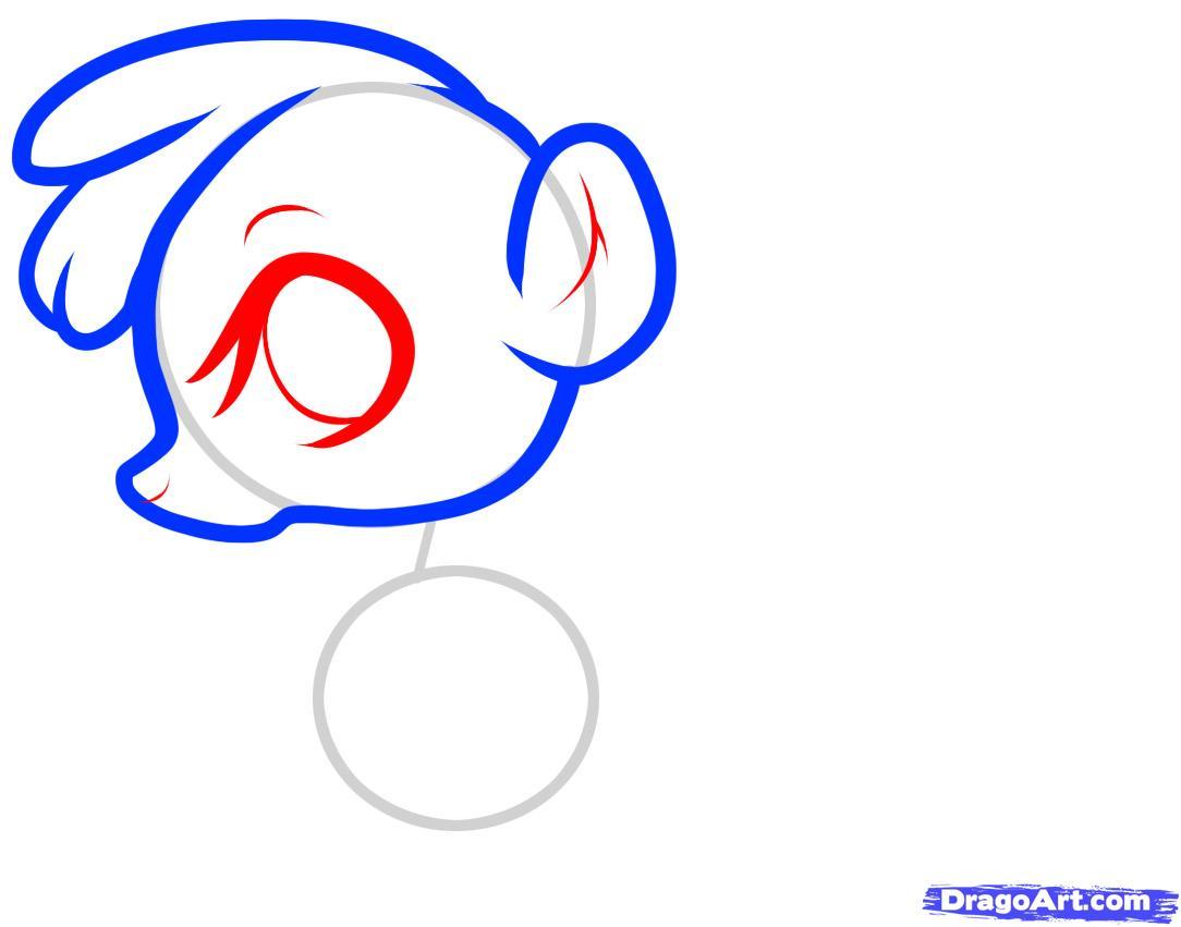 Рисуем маленького скунса ребенку