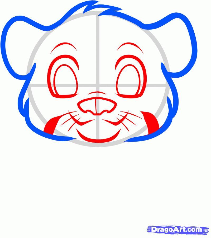 Рисуем маленького тигрёнка