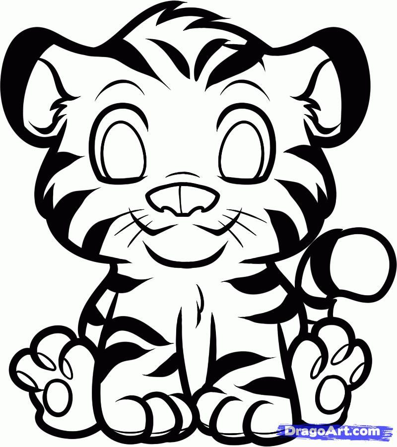 Рисуем тигра   для детей - шаг 6