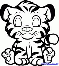 Фотография маленького тигрёнка