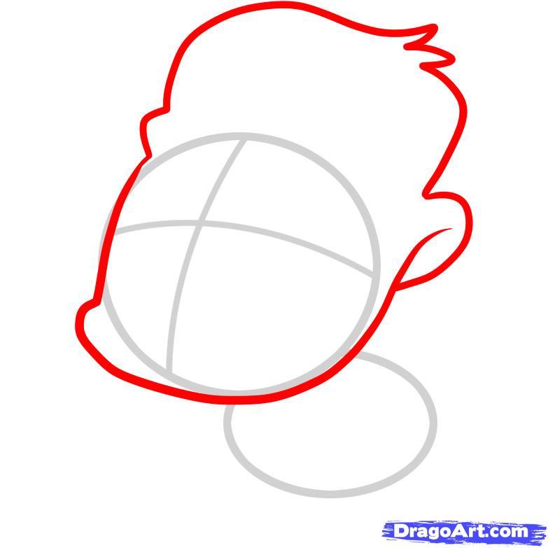 Рисуем маленькую гориллу ребенку - шаг 2
