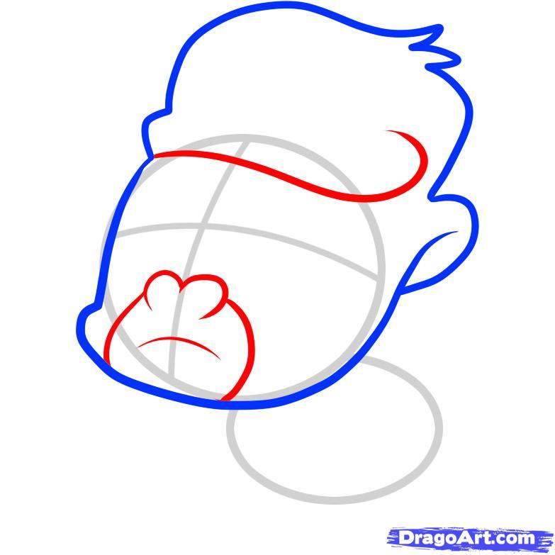 Рисуем маленькую гориллу ребенку - шаг 3