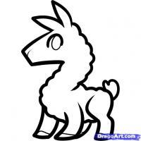 Как нарисовать маленькую ламу ребенку карандашом поэтапно