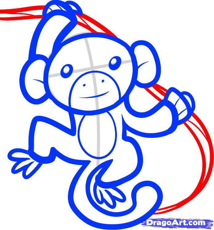 Рисуем обезьяну на дереве - фото 6