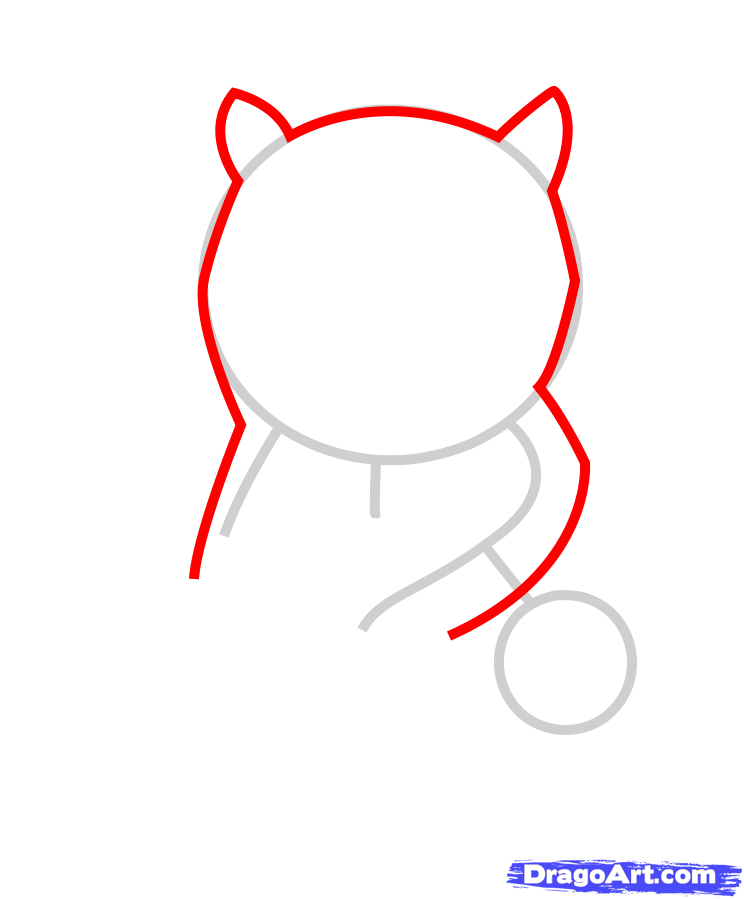 Рисуем медвежонок с ульем ребенку - шаг 2