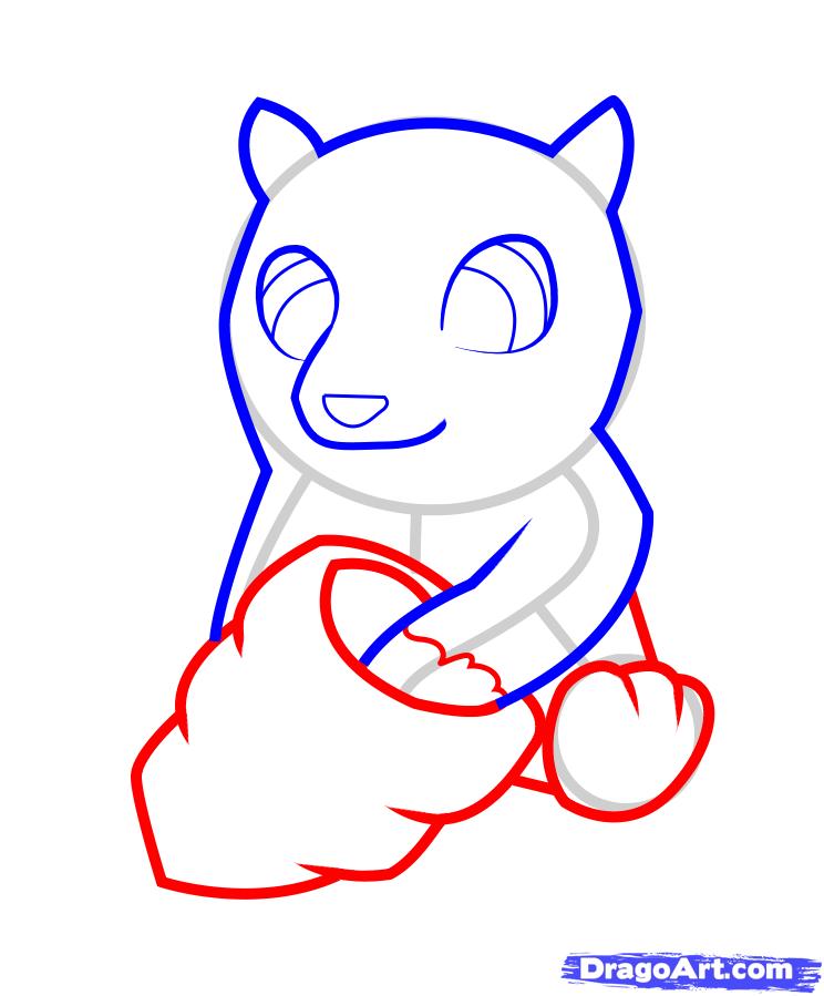 Рисуем медвежонок с ульем ребенку - шаг 4