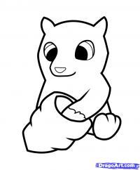 медвежонок с ульем ребенку карандашом