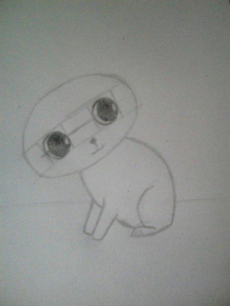 Рисуем милого кота  для детей - шаг 4