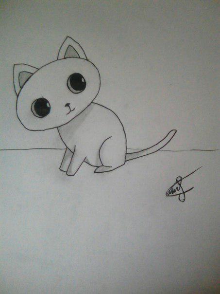 Рисуем милого кота  для детей - шаг 7