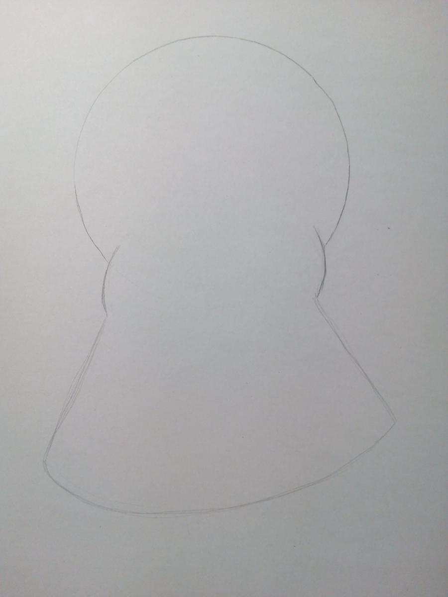 Рисуем милого маленького осьминога ребенку - шаг 2