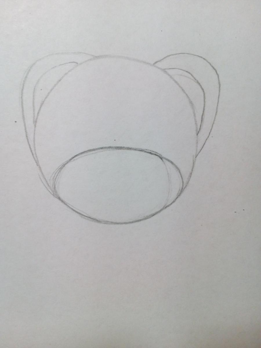 Плюшевый мишка для детей поэтапный урок - шаг 2