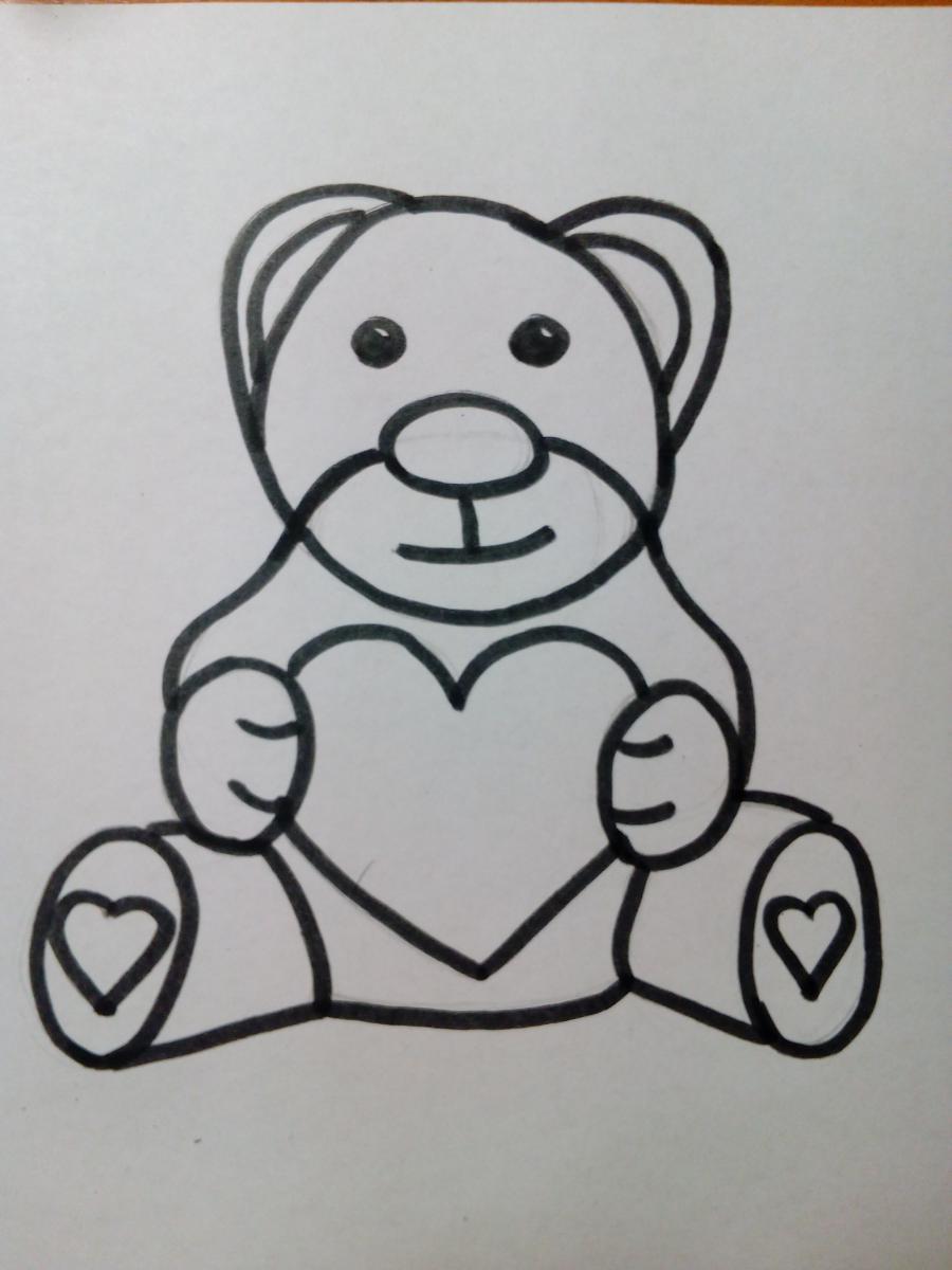 Плюшевый мишка для детей поэтапный урок - шаг 7