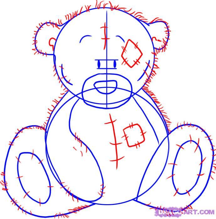 Рисуем мишку Тедди - шаг 3