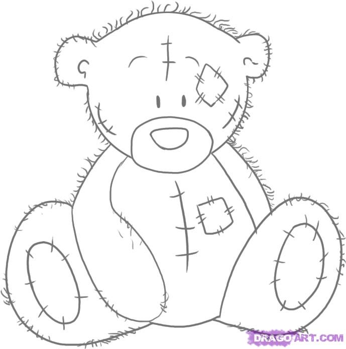 Как нарисовать мишку Тедди карандашом поэтапно