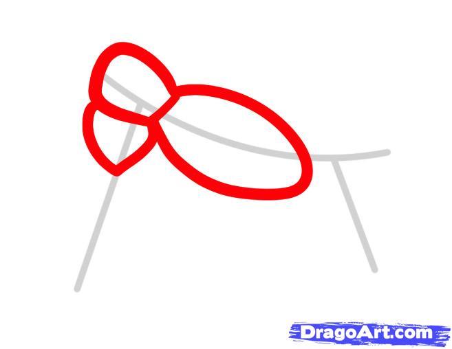 Рисуем мотоцикл ребенку - шаг 2