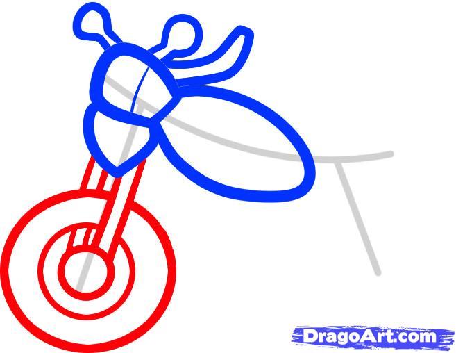 Рисуем мотоцикл ребенку - шаг 4