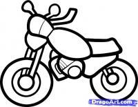 Как нарисовать мотоцикл ребенку карандашом поэтапно