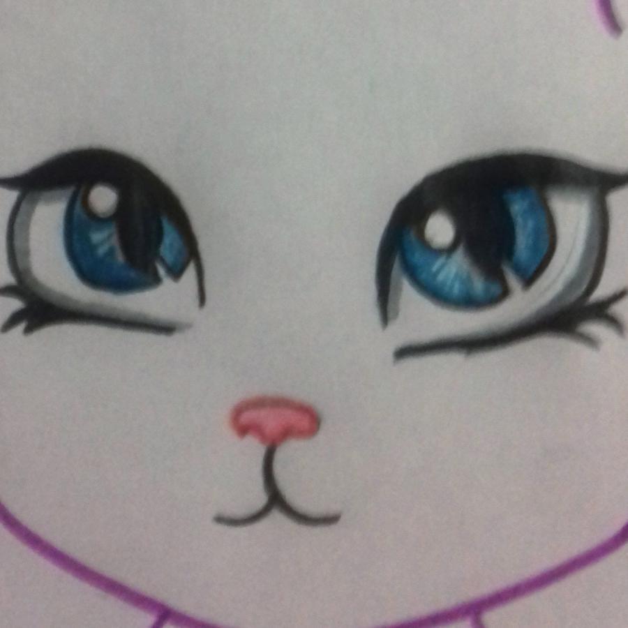 Рисуем мультяшную кошку для детей от 7 лет - шаг 6