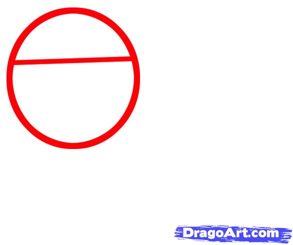 Рисуем мультяшную ворону ребенку - шаг 1
