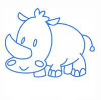 носорога ребенку карандашом