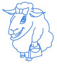 Фото овечку ребенку карандашом