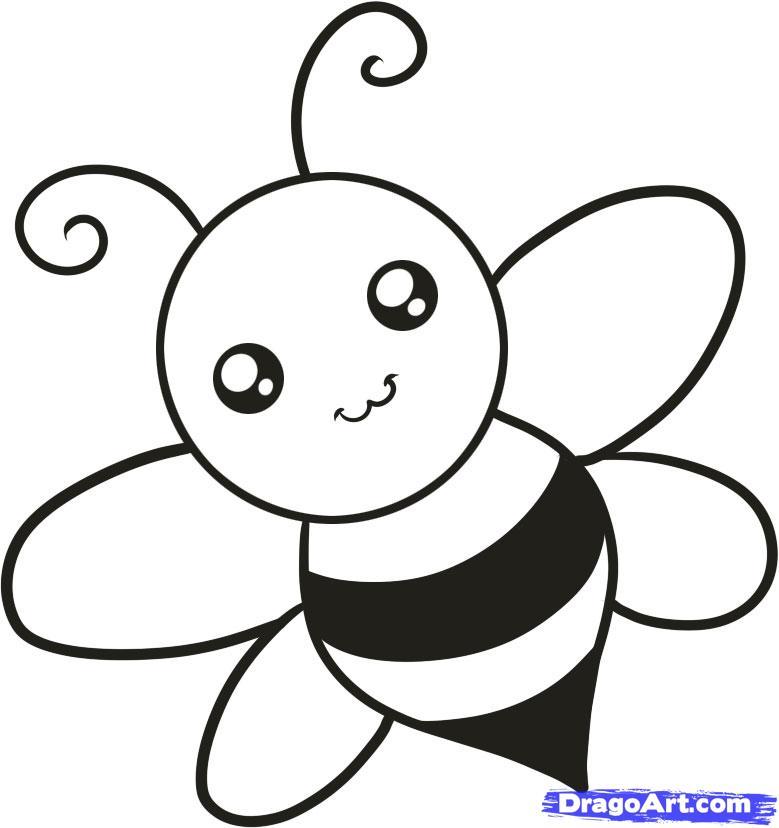 Рисуем пчелку ребенку - шаг 6