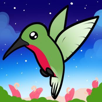 Как нарисовать птичку Колибри ребенку карандашом поэтапно