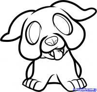 Как нарисовать щенка бульдога ребенку карандашом поэтапно