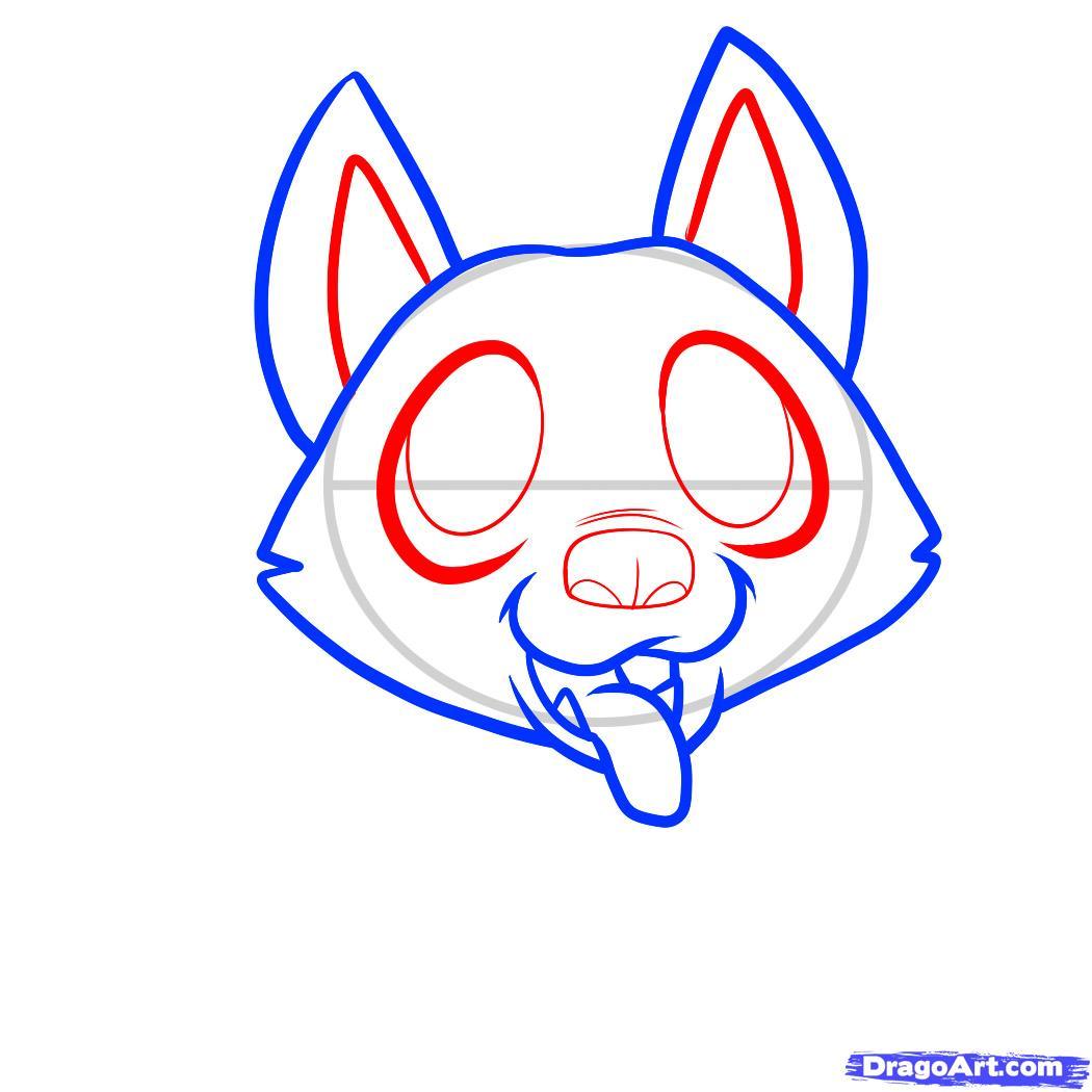 Рисуем щенка немецкой овчарки ребенку - шаг 4