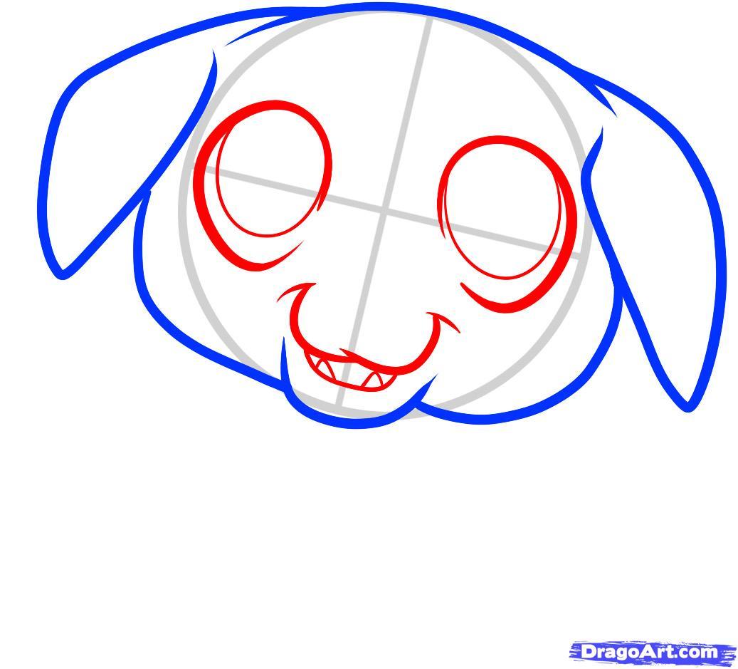 Рисуем щенка ротвейлера ребенку - шаг 3