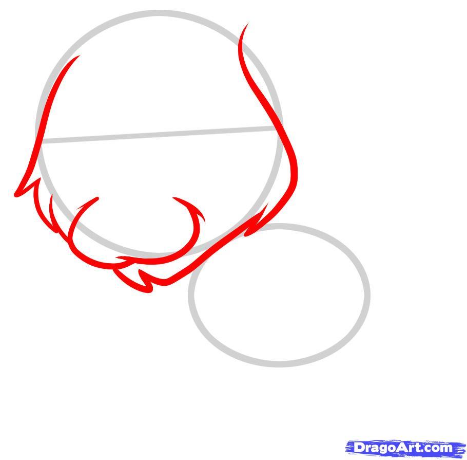 Рисуем щенка золотистого ретривера ребенку - шаг 2