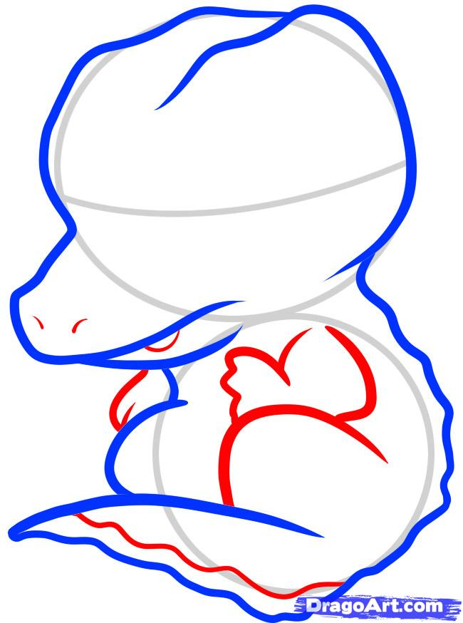 Рисуем симпатичного крокодила ребенку - шаг 4