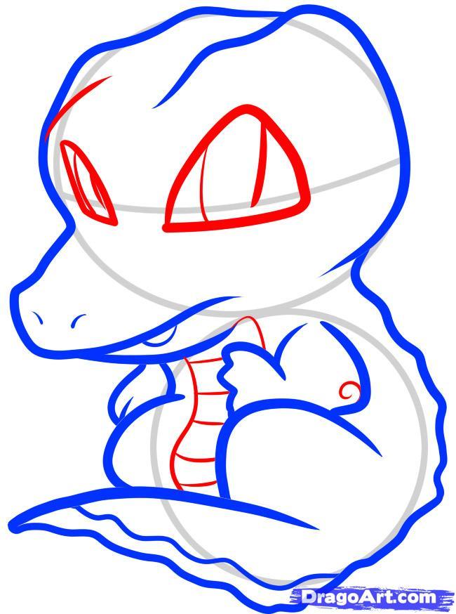 Рисуем симпатичного крокодила ребенку - шаг 5