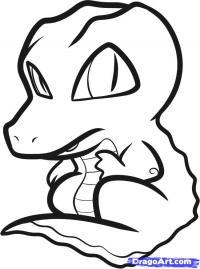 симпатичного крокодила ребенку карандашом