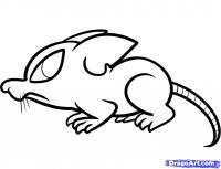 симпатичную крысу ребенку карандашом