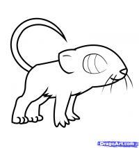 симпатичную мышку ребенку карандашом