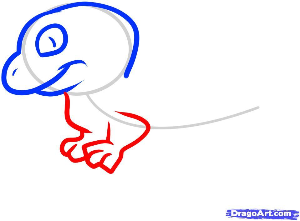 Рисуем ящерицу ребенку - фото 4