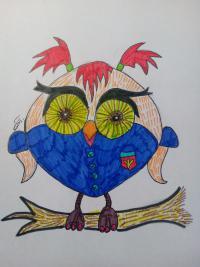 Фото сову-модницу для детей