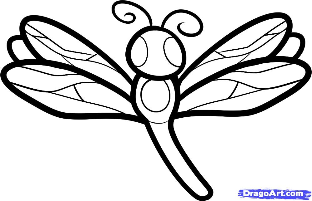 Рисуем стрекозу ребенку
