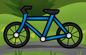Рисуем велосипед ребенку на бумаге