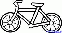 велосипед ребенку на бумаге