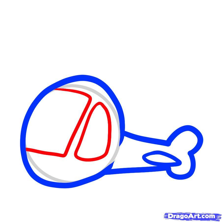 Рисуем вертолет ребенку - шаг 4