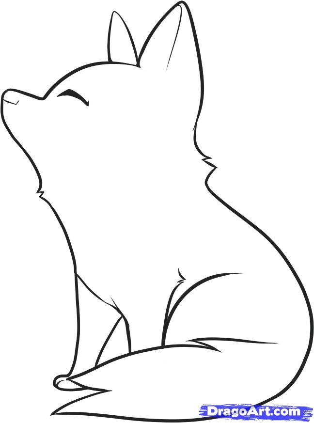 Рисуем воющего волченка ребенку - шаг 6