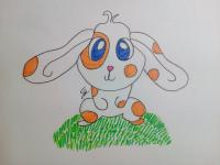 зайчонка ребенку карандашами