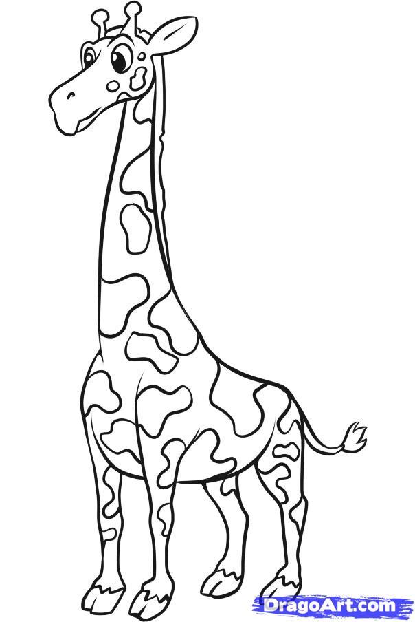 Рисуем жирафа ребенку - шаг 7