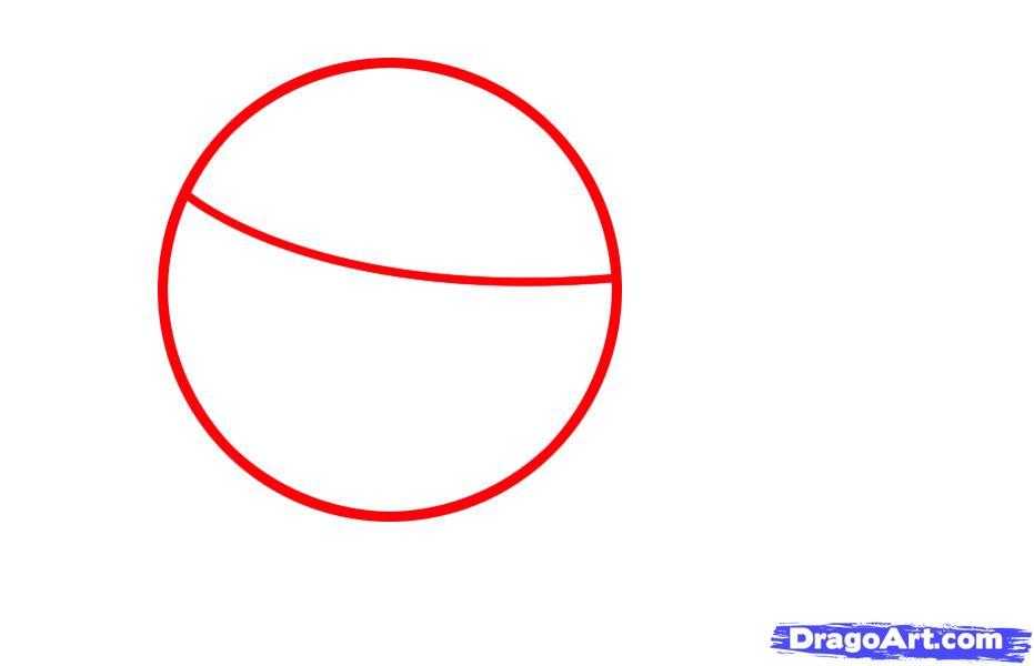 Как просто нарисовать Бегемотика ребенку - шаг 1